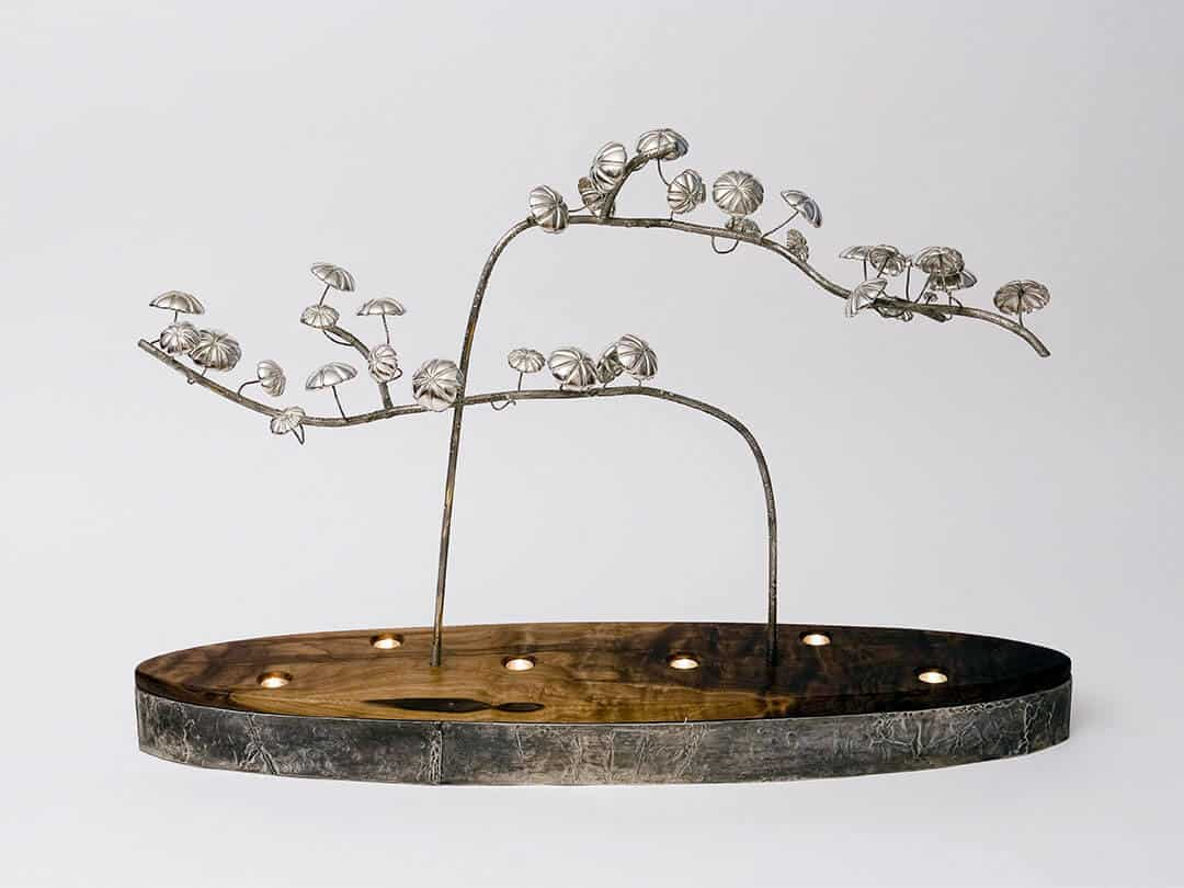 A pewter sculpture by Fleur Grenier