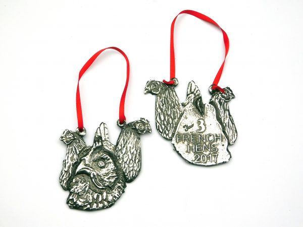 Ltd Edition Christmas Decoration 2017 '3 French Hens'